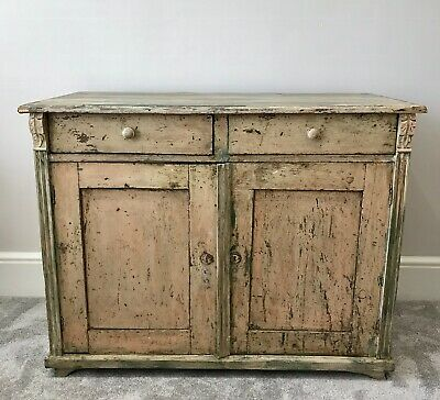 LOVELY ANTIQUE 19th CENTURY FRENCH DISTRESSED PAINTED PINE DRESSER