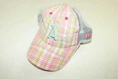 save off cc01e fec22 Los Angeles Angels Mlb New Era 9Twenty Child Pink Plaid Girl s Trucker Hat