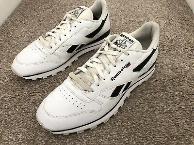 Mens Reebok Classic White Leather Trainers UK 10