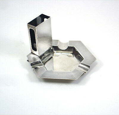 Vintage DEAKIN & FRANCIS Sterling Silver Combination Ash Tray & Match Box Holder