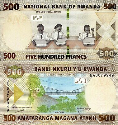 RWANDA 20 Francs Banknote World Currency Money BILL UNC p6e 1976 Note Africa