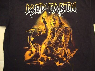 Iced Earth Heavy Metal Rock Band VIP Concert Tour Fan Black T Shirt Size L
