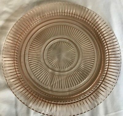 Vintage QUEEN MARY Pink Depression Fruit Bowl and Platter by Anchor Hocking