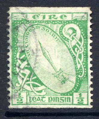 IRELAND 1922-34 ½D IMPERFORATE x PERFORATED 14 FINE CDS USED. GIBBONS 71a.