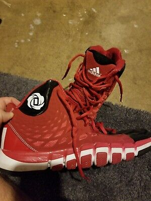 71728008349c9 D ROSE 773 II Adidas Basketball Shoes Size 9 Red Black White Preowned