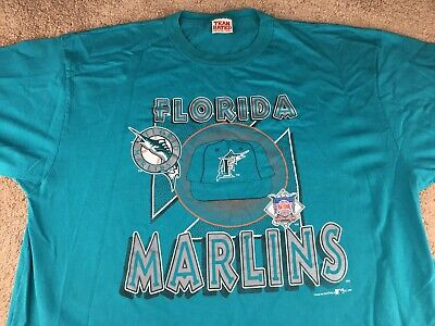 df5d0d84d5e Vintage Florida Marlins Shirt 3XL Baseball Teal Miami MLB jersey hat jacket  90s