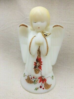 Vintage Fenton Hand Painted Angel Bell