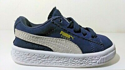 e7e47280e50 Puma Suede Classic Baby Boy's / Toddler's Navy Blue / Tan - Gold Shoes Size  6C