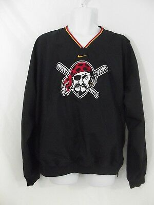 low priced 00a13 ef16b Nike MLB Pittsburgh PIRATES Baseball Pullover Warm-Up Jacket Windbreaker   Mens L