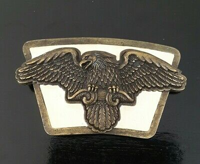 Vintage Belt Buckle Brass Eagle Made In U.S.A.