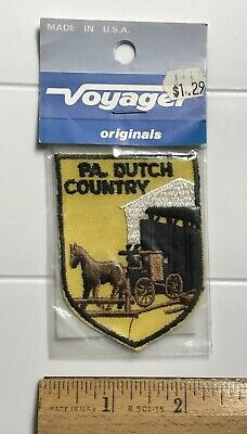 NIP Pennsylvania Pa. Dutch Country Amish Horse Buggy Embroidered Patch Badge