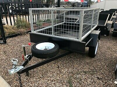 6x4 SINGLE AXLE BOX TRAILER | 600KG GVM | 2FT GAL CAGE | SMOOTH FLOOR