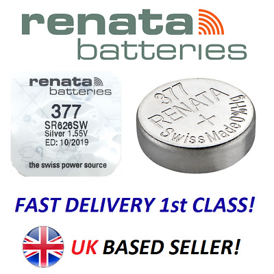 100% GENUINE Renata 377 AG4 SR626SW Watch Cell Batteries Mercury Free