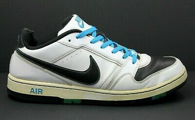 f5b3fc3d385 Nike Air Prestige III Low Men's US 13 Casual Shoes Leather White Black Blue  Lace