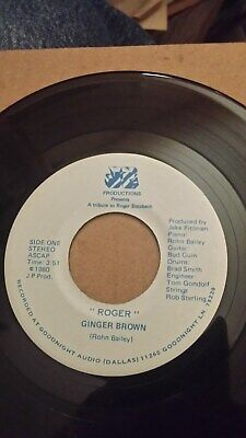 "Ginger Brown ""Roger"" 1980 JP Records Texas Boogie 45"