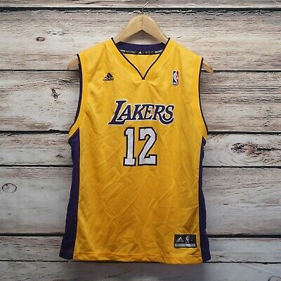 check out 12210 be8aa ADIDAS LOS ANGELES Lakers NBA Basketball Dwight Howard 12 Jersey Youth L  14-16