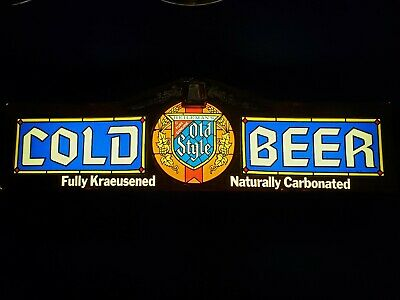 Super Rare Vintage 1977 Heilemans Old Style Lager Cold Beer Lighted Sign