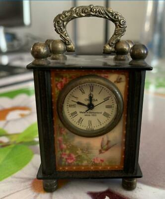 Collectible Chinese Belle Handwork Mechanical Table Clock NN