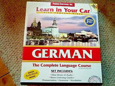 Penton Overseas Learn in your car German Level one two & three  1, 2, & 3