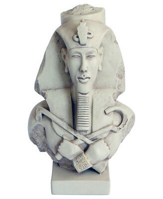 Head bust of Egyptian Pharaoh Akhenaten Akhenaton sculpture statue reproduction