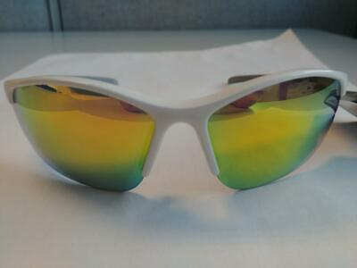86b9901169 Foster Grant White w Yellow Shake Sport Sunglasses 100% UVA B Impact Resist  PC