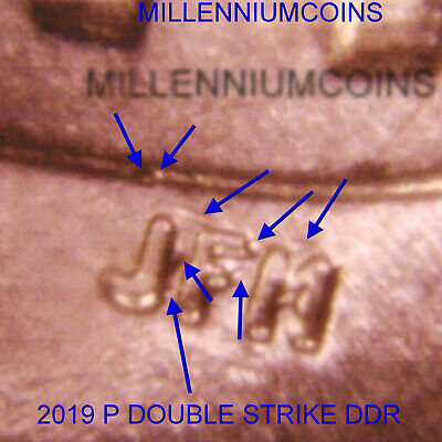 2019 P Shield Penny / * Special Offer * / Doubled Die  / Misaligned / From Roll