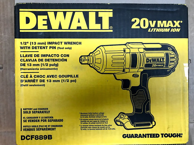 DEWALT DCF889B 20-Volt MAX 1/2 in. High Torque Impact Wrench with Detent Pin
