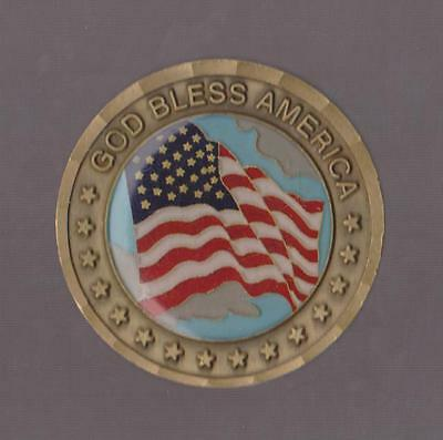 GOD BLESS AMERICA we'll take it from here Let's Roll Challenge Coins 1 5