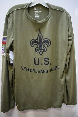 cheap for discount f0e58 95a8f NIKE NEW ORLEANS Saints 2018 Salute to Service Long Sleeve Shirt