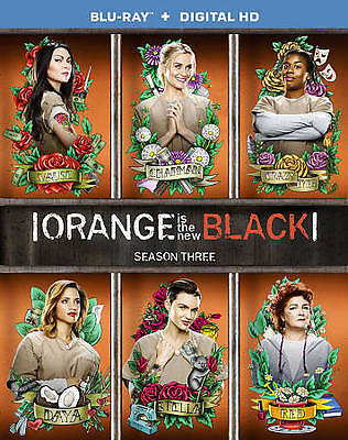 Orange Is the New Black: Third Season 3 (Blu-ray,2016,3-Discs) NEW Wi/Slip Cover