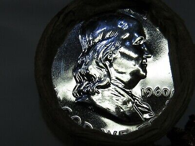 CAMEO PROOF END/1960 PROOF END 1 ROLL SILVER FRANKLIN Half Dollars #HF66