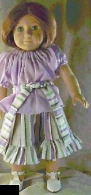 "Doll Clothes Made 2 Fit American Girl 18"" in Josephine 3pc Skirt Pheasant Blouse"