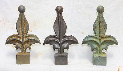 Cast Iron Metal Jester Finial Home Garden Fence Bed Yard Outdoor Cabin Decor