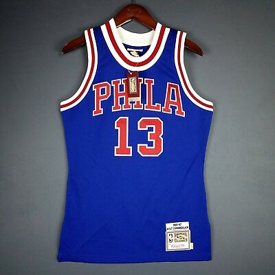 premium selection fe0a4 ac3cd 100% AUTHENTIC WILT Chamberlain Mitchell Ness 66 67 Sixers Jersey Size 36 S  Mens
