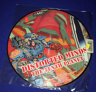 "A Distorted Minds Tenth Planet/T-10 12""PICTURE DISC RECORD VINYL Kaos Drum&Bass"