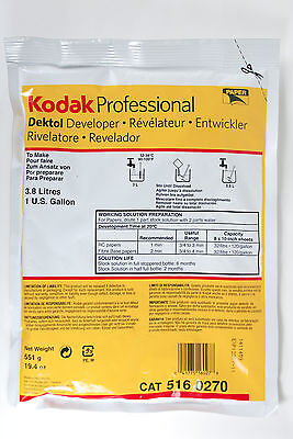 Kodak Professional Dektol Paper Developer 516-0270 Makes 1 Gallon Exp 2017