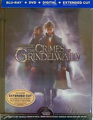 FANTASTIC BEASTS THE CRIMES OF GRINDELWALD ~Blu-Ray + DVD + Digital <64-PG BOOK>
