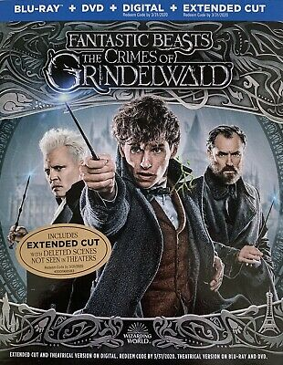 FANTASTIC BEASTS THE CRIMES OF GRINDELWALD ~ Blu-Ray + DVD + Digital *New