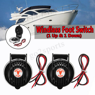 Anchor Windlass Winch Foot SWITCH 12 & 24 Volt Deck Mount Sealed for Boat