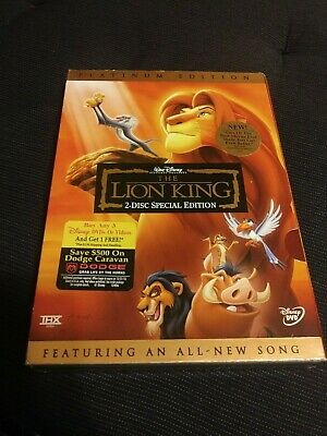 The Lion King DVD Platinum Edition 2 Disc Set New & Sealed with Slipcover