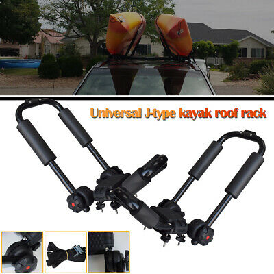2Pieces Canoe Boat Kayak Roof Racks for Car SUV Top Mount Carrier J Cross Bar