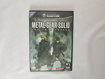 Metal Gear Solid The Twin Snakes GameCube Nintendo Authentic Tested & Working