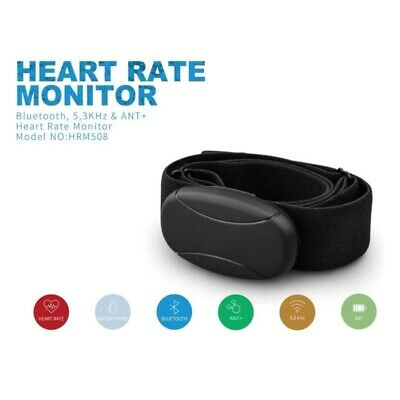 Chest Strap Heart Rate Monitor with Bluetooth 4.0, ANT+ & 5.3KHZ Transmission