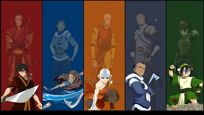 """192 Avatar The Last Airbender - Aang Fight Japan Anime 24""""x14"""" Poster"""