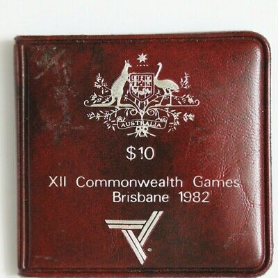 1982 Australian $10 Ten Dollar Silver XII Commonwealth Games UNC (330/682D4)