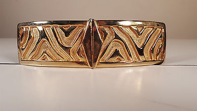 Vintage ACCESSOCRAFT Belt Buckle Gold Tone Rectangle 2pcs Womens Accessories