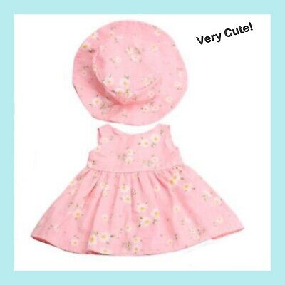 """Floral Dres for American Girl 18"""" doll clothes pink NO Hat BRAND NEW easter"""