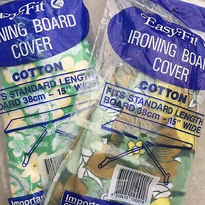 UNUSED Vintage Ironing Board Cover FLORAL Retro Cotton