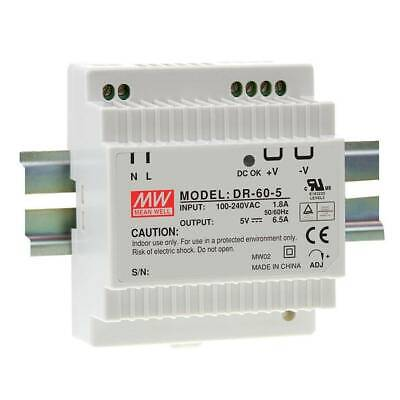 Meanwell DR-60-24 Industrial DIN Rail Power Supply 60W AC To DC 24V