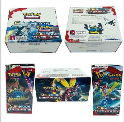324pcs SUN & MOON Pokemon TCG Booster Box English Edition Break Point cards UK